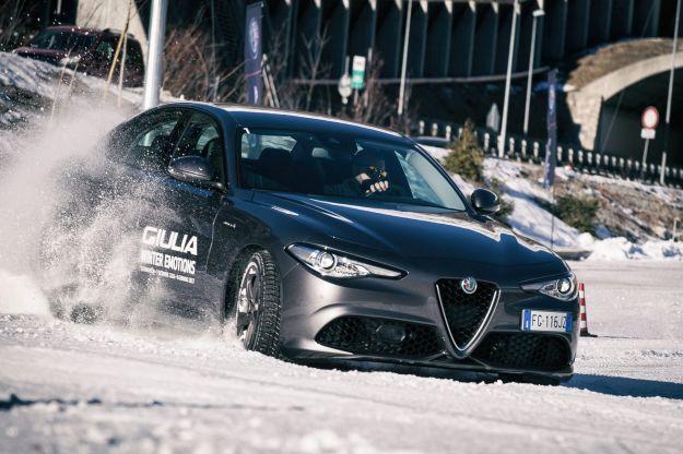 Alfa Romeo Giulia Veloce Q4: al Royal Driving di Courmayeur test drive sulla neve [FOTO]