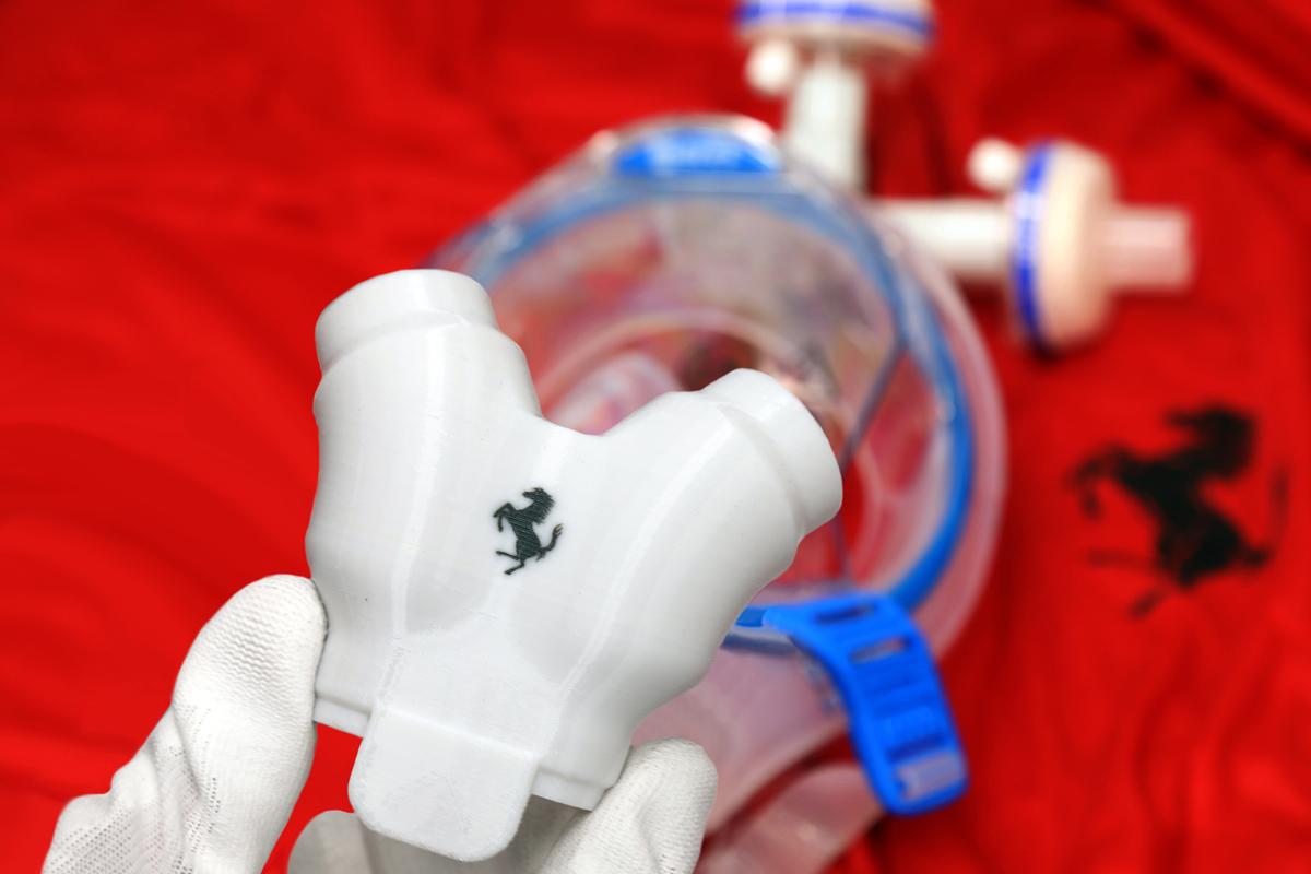 Ferrari produce valvole per respiratori