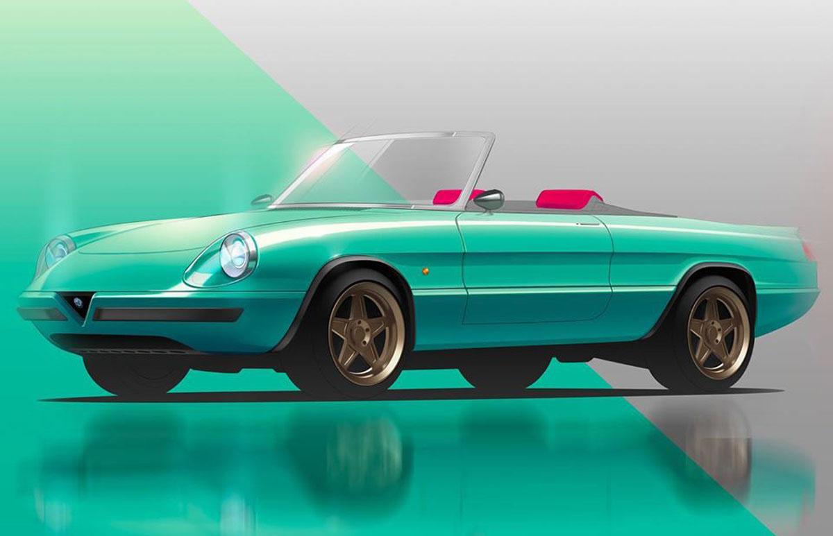 Alfa Romeo Spider elettrica