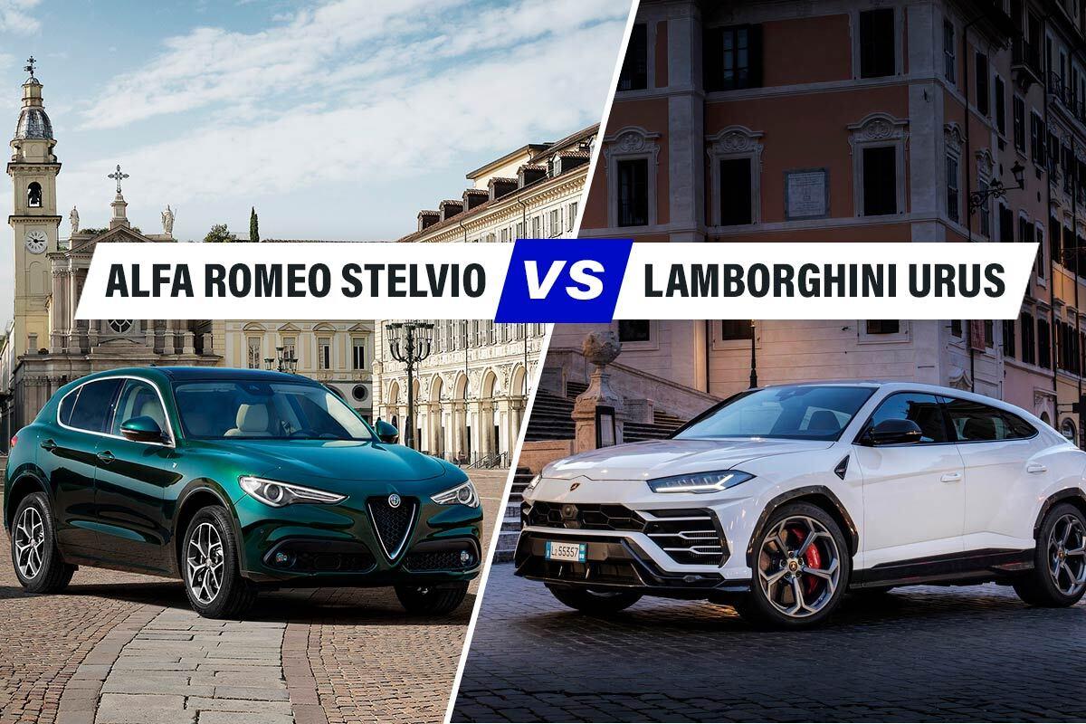 Alfa Romeo Stelvio Quadrifoglio vs Lamborghini Urus, il derby tra SUV tricolore
