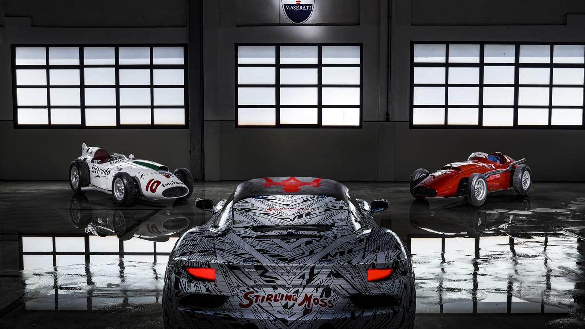 La Maserati MC20 in livrea dedicata a Stirling Moss
