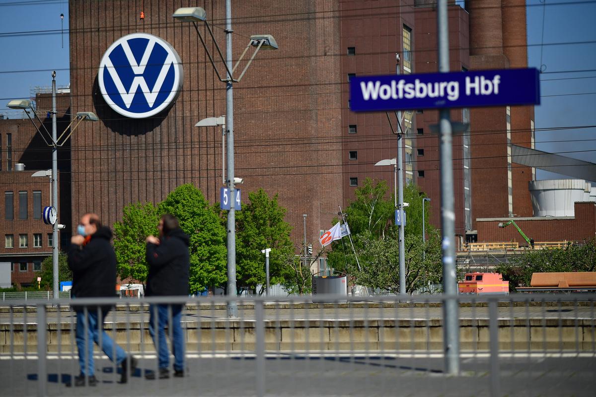 Una fabbrica Volkswagen