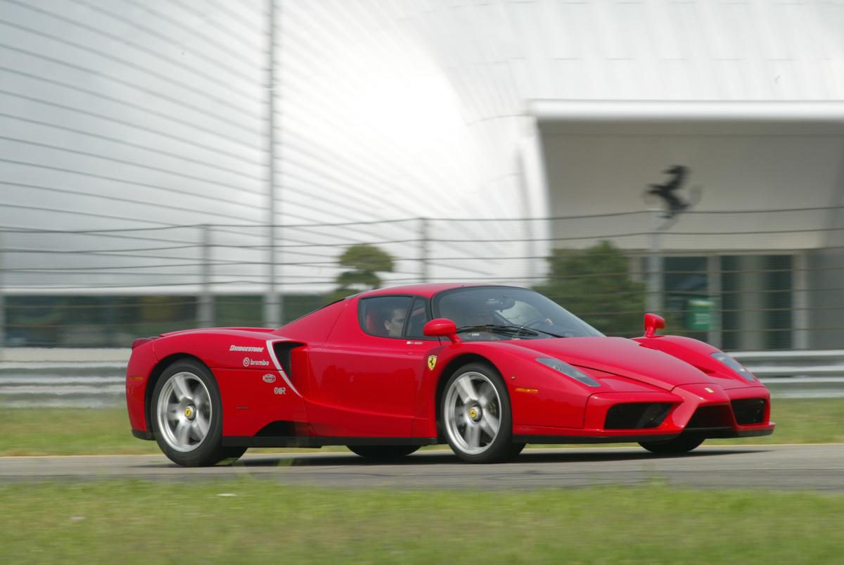 La Ferrari Enzo in pista