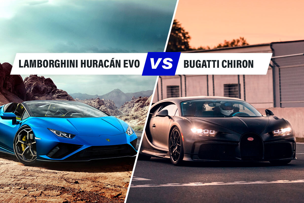 Lamborghini Huracán Evo RWD vs Bugatti Chiron, sfida tra mostri della velocità