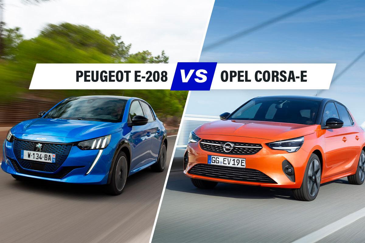 """Peugeot e-208 vs Opel Corsa-e, il derby tra auto """"alla spina"""""""