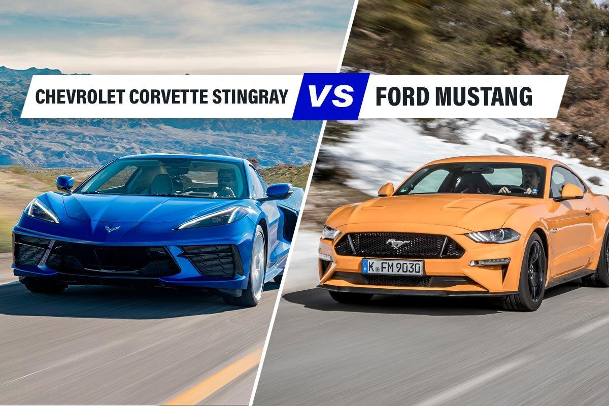 Confronto auto Chevrolet Stingray vs Ford Mustang