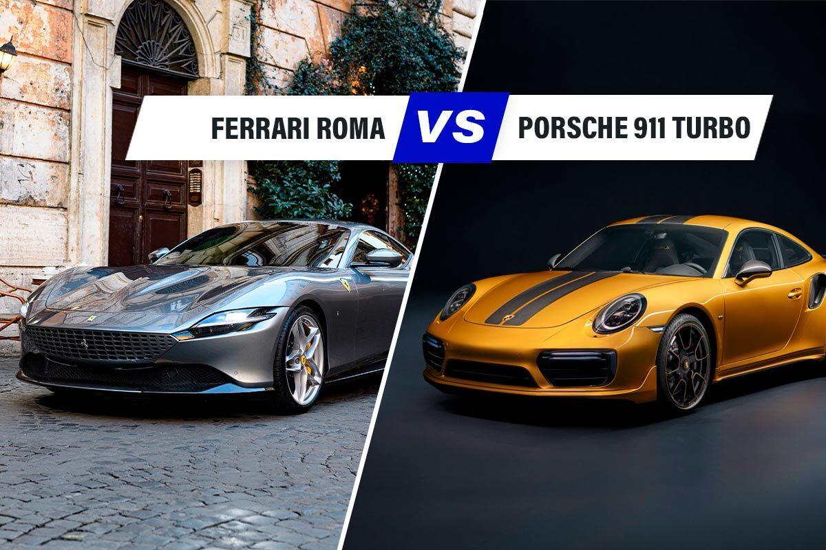 Confronto auto Ferrari Roma vs Porsche 911 Turbo