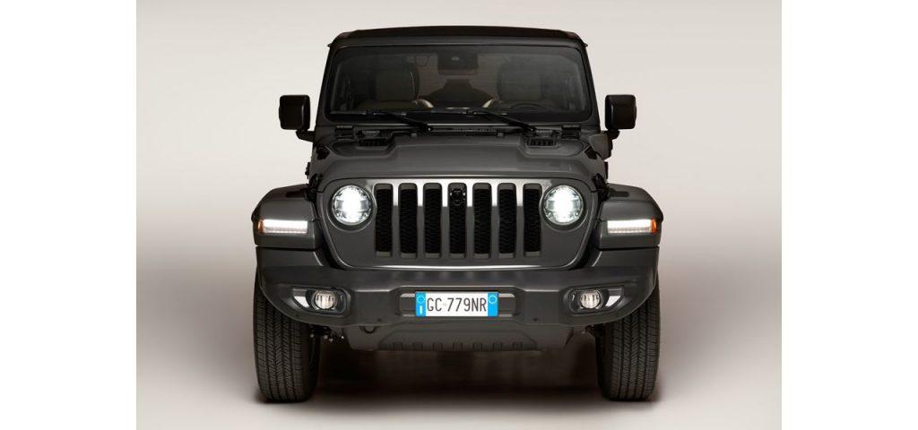 Jeep Wrangler ibrida plug-in anteriore