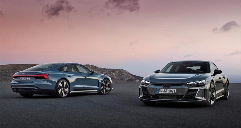 Audi e-tron GT profilo fronte retro