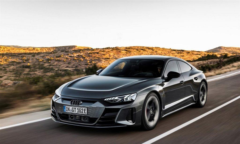 Audi e-tron GT profilo anteriore