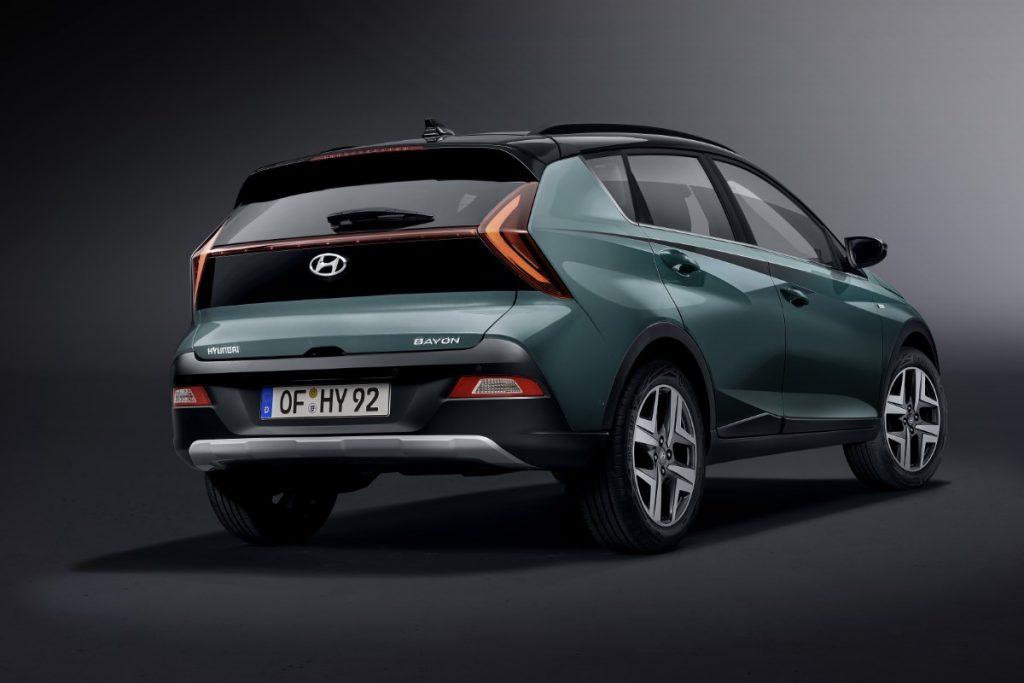 Hyundai Bayon dettaglio profilo posteriore