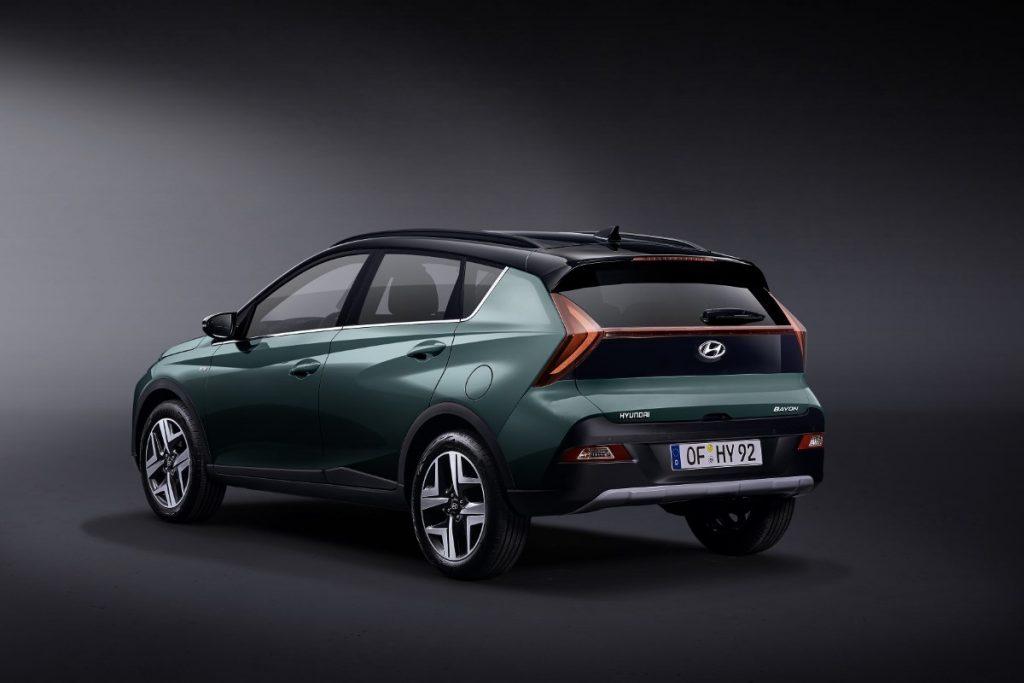 Hyundai Bayon profilo posteriore