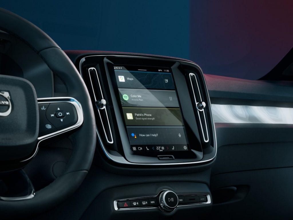 Volvo C40 Recharge infotainment