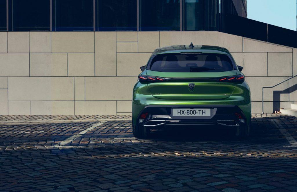 nuova Peugeot 308 vista posteriore