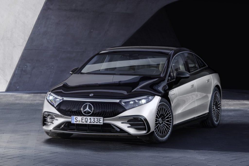 Mercedes EQS profilo anteriore