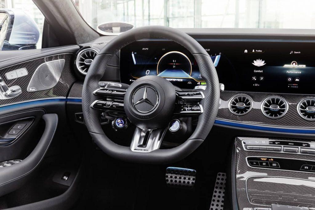 dettaglio interni Mercedes 53 CLS AMG 2021