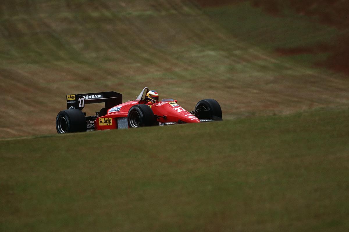 Michele Alboreto in macchina