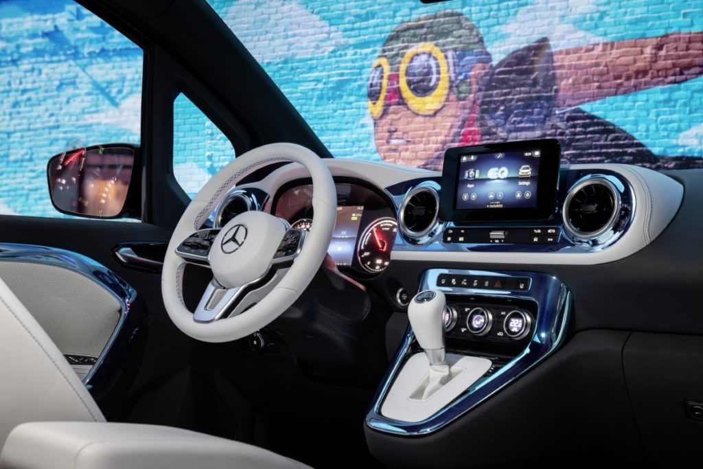 Mercedes EQT dettaglio interni