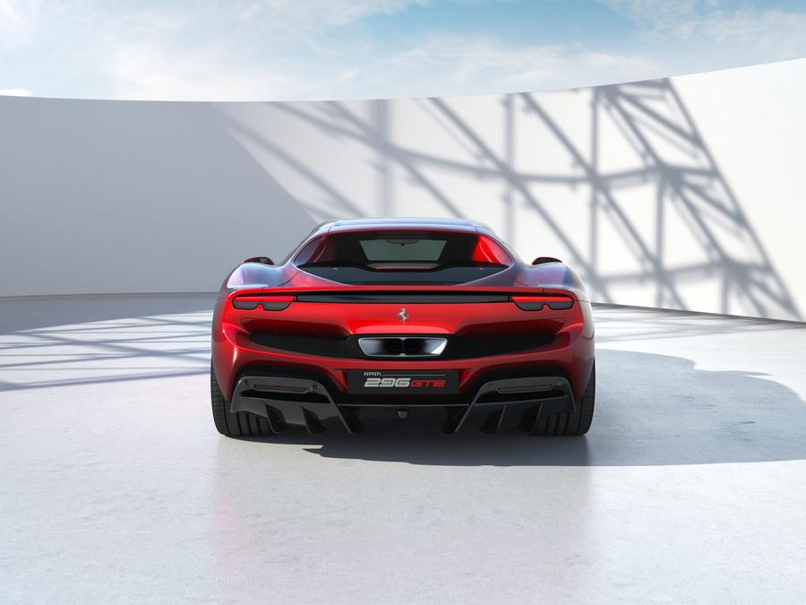 Ferrari 296 GTB posteriore