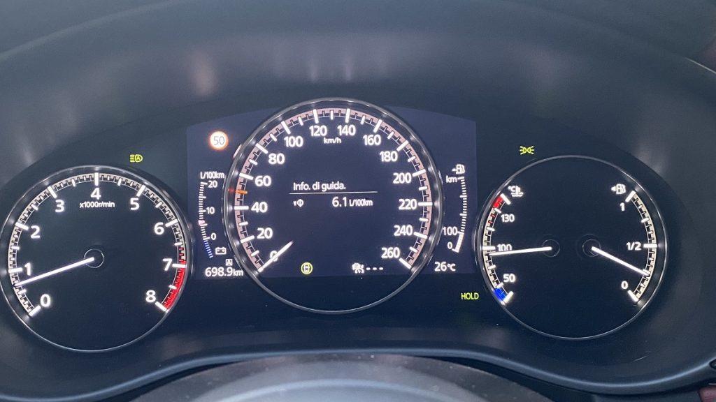 consumi nuova Mazda 3 e-SkyActive X