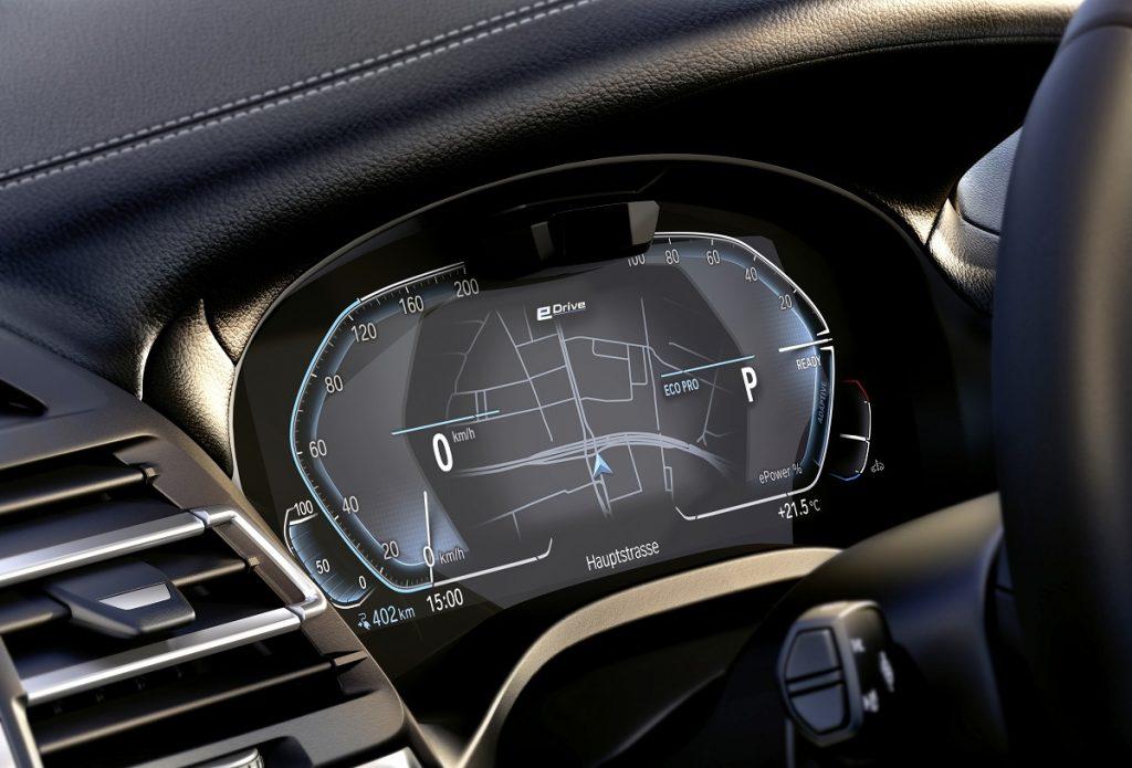 nuova BMW iX3 dettaglio display digitale