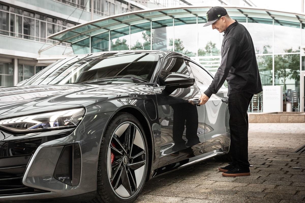 auto elettriche Audi con ken Block