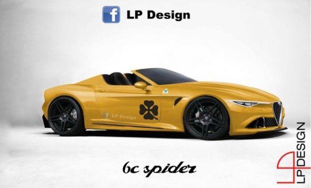 Alfa Romeo 6C Spider rendering LP Design