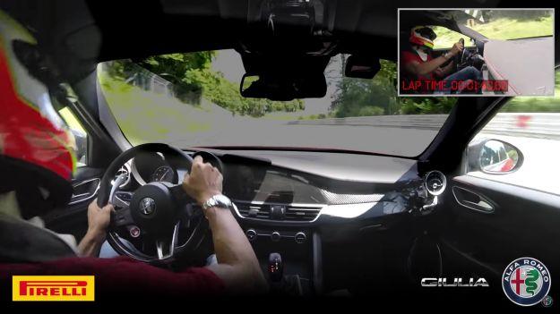 Alfa Romeo Giulia Quadrifoglio: record al Nurburgring in 7:32 con l'automatico [VIDEO]