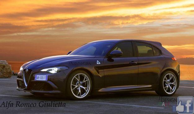 Alfa Romeo Giulietta 2018 render