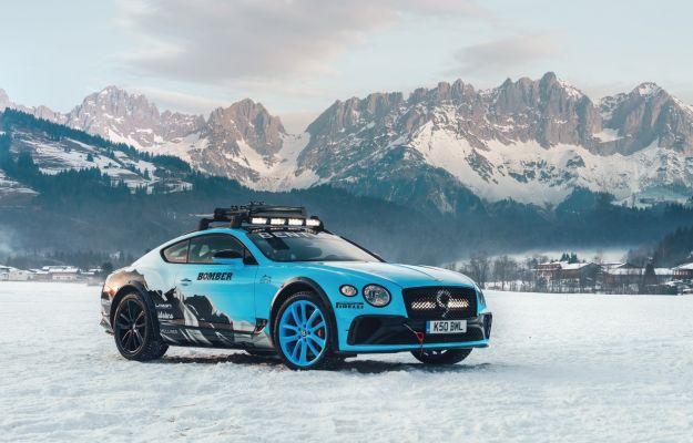 Bentley GT Continental per Ice Race profilo