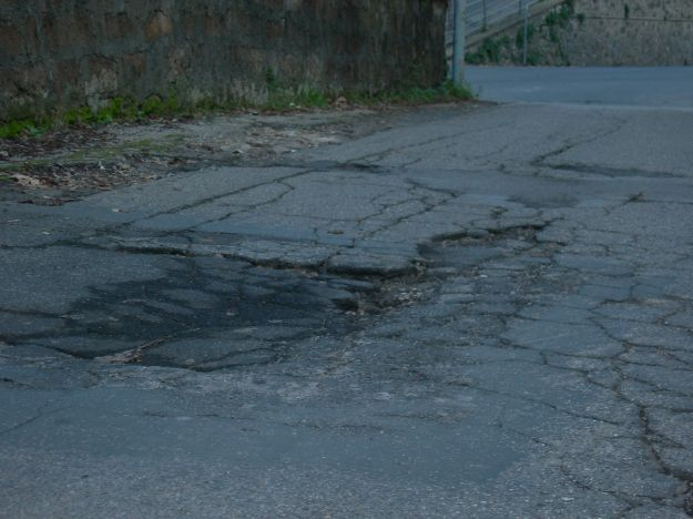 Buche stradali a Roma