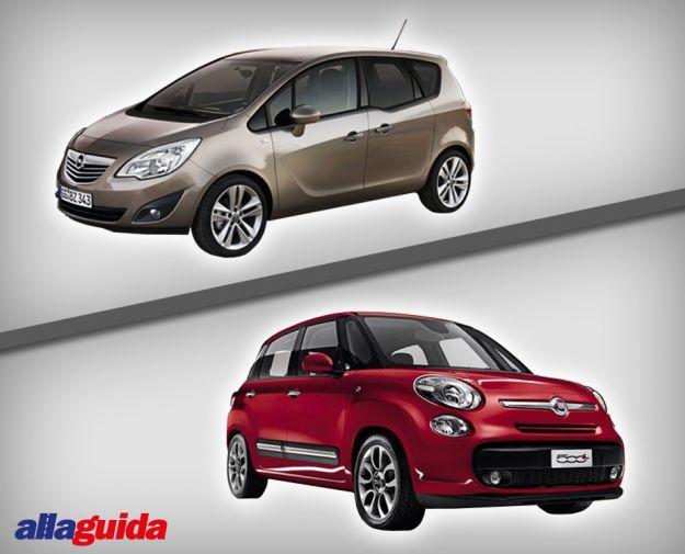 Fiat 500L vs Opel Meriva: confronto tra le monovolume compatte [FOTO]
