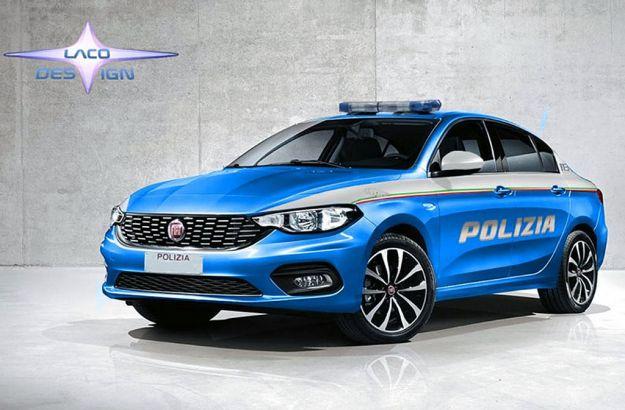 Fiat Tipo Polizia: un rendering la immagina così [FOTO]