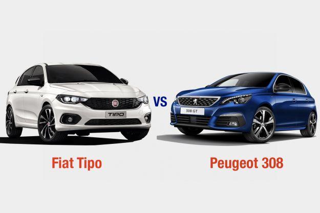 Fiat Tipo Vs Peugeot 308: interni, dotazioni, motori e prezzo a confronto
