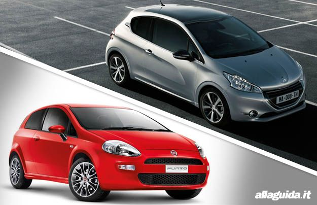 Fiat punto 2012_vs_peugeot 208 confronto Alla Guida