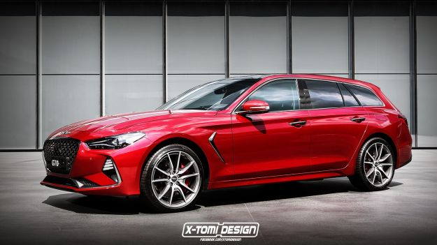 Genesis G70 station wagon render