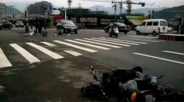 Incidente scooter in Cina