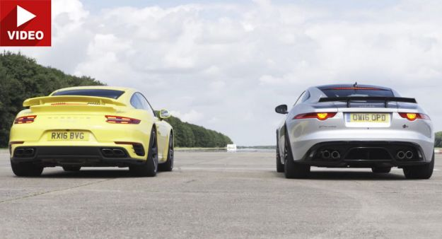 Jaguar F Type SVR vs Porsche 911 Turbo