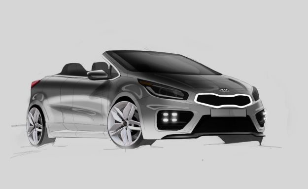 Kia Pro_Cee'd GT Cabriolet: render ne immagina lo stile [FOTO]