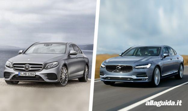 Mercedes Classe E 2016 vs Volvo S90: confronto tra berline di lusso [FOTO]