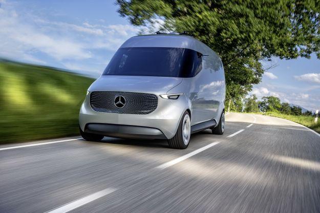 Mercedes Vision Van Concept: elettrico il furgone del futuro [FOTO]