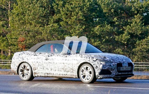 Nuova Audi A5 cabrio, foto spia. Cambia look e tecnica anche la coupé