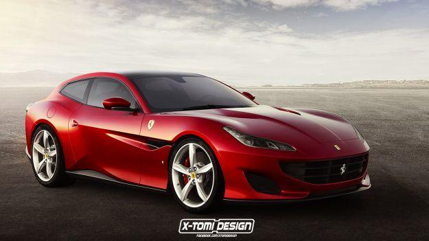 Nuova Ferrari Portofino Shooting Brake render