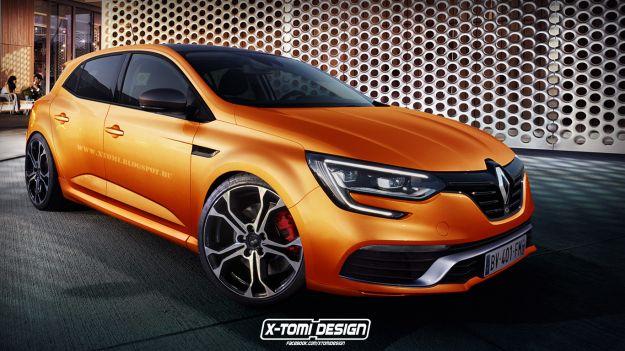 Nuova Renault Megane RS, rendering