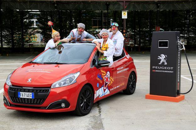 Peugeot 208 per Dottor Sorriso alimentata da #MoveYourEnergy