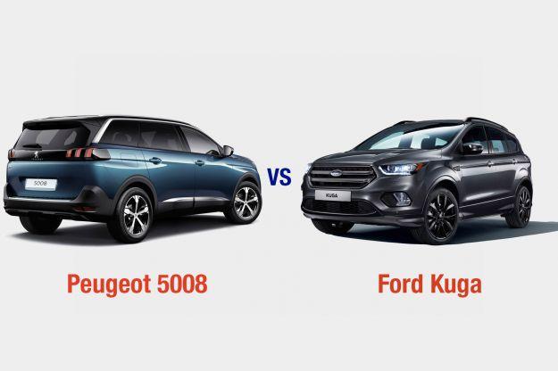 Peugeot 5008 Vs Ford Kuga: interni, dotazioni, motori e prezzo a confronto