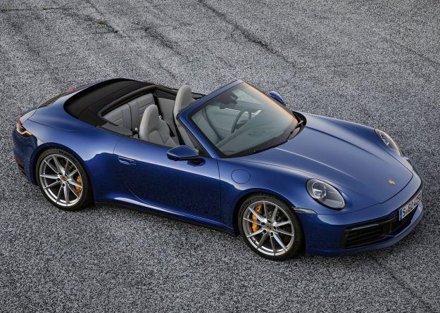 Porsche 911 cabrio 2019 dall'alto