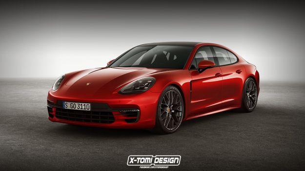 Nuova Porsche Panamera GTS, il render con motore V8 turbo