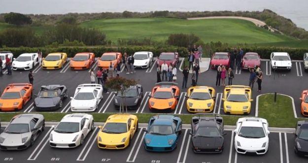Lamborghini: raduno in America della supercar italiana [VIDEO]