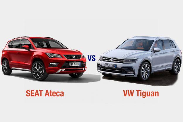 Volkswagen Tiguan Vs Seat Ateca: interni, dotazioni, motori e prezzo a confronto